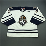 Riopel, Nic<br>White Set 1<br>Greenville Road Warriors 2011-12<br>#29 Size: 58G