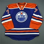 Belov, Anton<br>Blue Retro Set 1, NHL Debut<br>Edmonton Oilers 2013-14<br>#77 Size: 58+