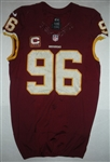 Cofield, Barry<br>Burgundy w/ Captains C<br>Washington Redskins 2013<br>#96 Size: 48 LINE