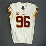 Cofield, Barry<br>White w/Captains C<br>Washington Redskins 2013<br>#96 Size:48 LINE