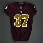 Doughty, Reed<br>Burgundy and Gold Throwback - worn November 3, 2013 vs. San Diego Chargers<br>Washington Redskins 2013<br>#37 Size: 40 SKILL