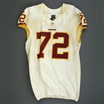 Bowen, Stephen<br>White, Worn Sunday September 29, 2013 vs. Oakland Raiders<br>Washington Redskins 2013<br>#72 Size:48 LINE