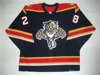 Audette, Donald * <br>Blue 3rd Regular Season<br>Florida Panthers 2003-04<br>#28 Size: 54