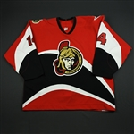 Meszaros, Andrej<br>Red Set 3 / Playoffs<br>Ottawa Senators 2005-06<br>#14 Size: 58