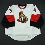 Auld, Alex<br>White Set 1<br>Ottawa Senators 2008-09<br>#31 Size: 58+G