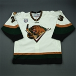 Donovan, Chris<br>White Set 1<br>Utah Grizzlies 2012-13<br>#23 Size: 56