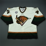 Isherwood, Mark<br>White Set 1<br>Utah Grizzlies 2012-13<br>#24 Size: 56