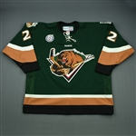 Lewis, Trevor<br>Green Set 1 (C removed)<br>Utah Grizzlies 2012-13<br>#22 Size: 56