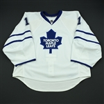 Pogge, Justin<br>White Set 3<br>Toronto Maple Leafs 2008-09<br>#1 Size: 58G