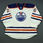 Arcobello, Mark<br>White Retro Set 3<br>Edmonton Oilers 2013-14<br>#26 Size: 56