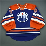 Bachman, Richard<br>Blue Retro Set 1<br>Edmonton Oilers 2013-14<br>#30 Size: 58G