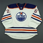 Arcobello, Mark<br>White Retro Set 2<br>Edmonton Oilers 2013-14<br>#26 Size: 56