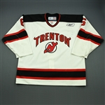 Murray, Chris<br>White Set 1 (A removed)<br>Trenton Devils 2009-10<br>#6 Size: 56