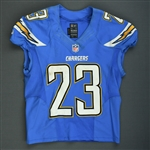 Brown, Ronnie<br>Powder Blue - worn October 14, 2013 vs Indianapolis<br>San Diego Chargers 2013<br>#23 Size: 42 L-BK