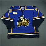 Sejna, Peter * <br>Blue Set 1<br>Peoria Rivermen 2005-06<br>#24 Size: 56