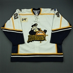 Sejna, Peter * <br>White Set 1<br>Peoria Rivermen 2005-06<br>#24 Size: 56