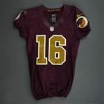 Banks, Brandon<br>Burgundy and Gold Throwback<br>Washington Redskins 2012<br>#16 Size:38