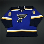 Khavanov, Alex * <br>Blue 2nd Regular Season<br>St. Louis Blues 2002-03<br>#29 Size: 56