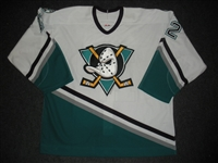 Leclerc, Mike * <br>White Preseason / Regular Season<br>Anaheim Mighty Ducks 2003-04<br>#12 Size: 56