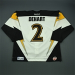 DeHart, Tony<br>White Set 1<br>Stockton Thunder 2012-13<br>#2 Size: 56