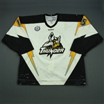 Hunter, Eric<br>White Set 1 (A removed)<br>Stockton Thunder 2012-13<br>#15 Size: 56