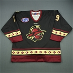 Helfrich, Tyler<br>Black Set 1<br>Gwinnett Gladiators 2011-12<br>#19 Size: 54