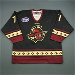 Kashirsky, Nikita<br>Black Set 1 (A removed)<br>Gwinnett Gladiators 2011-12<br>#71 Size: 54