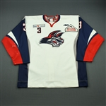 Devin, Mike<br>White Set 1<br>Elmira Jackals 2011-12<br>#3 Size: 56
