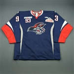 Gratchev, Maxime<br>Navy Set 1 (A removed)<br>Elmira Jackals 2011-12<br>#93 Size: 54