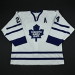 McCabe, Bryan * <br>White 1st Regular Season w/A<br>Toronto Maple Leafs 2002-03<br>#24 Size: 56