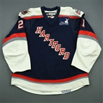 Sanguinetti, Bobby<br>Navy Set 2<br>Hartford Wolf Pack 2008-09<br>#21 Size: 56