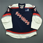Ouellette, Mike<br>Navy Set 2<br>Hartford Wolf Pack 2008-09<br>#44 Size: 56