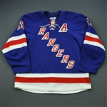 Richards, Brad * <br>Blue w/A - Photo-Matched<br>New York Rangers 2013-14<br>#19 Size: 56