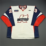 Ellington, Taylor<br>White Set 1<br>Kalamazoo Wings 2011-12<br>#23 Size: 56