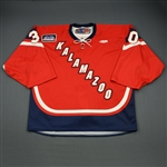 Gill, Riley<br>Red Set 1<br>Kalamazoo Wings 2011-12<br>#30 Size: 58G