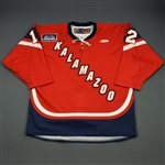Haczyk, Bryan<br>Red Set 1<br>Kalamazoo Wings 2011-12<br>#12 Size: 54