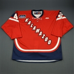 Kivisto, John<br>Red Set 1<br>Kalamazoo Wings 2011-12<br>#42 Size: 56