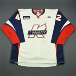 Kivisto, John<br>White Set 1<br>Kalamazoo Wings 2011-12<br>#42 Size: 56