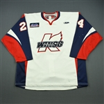 Reid, Elgin<br>White Set 1<br>Kalamazoo Wings 2011-12<br>#24 Size: 56