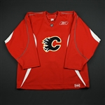 Reebok<br>Red Practice Jersey<br>Calgary Flames 2006-07<br># Size: 56