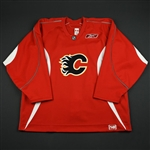 Reebok<br>Red Practice Jersey<br>Calgary Flames 2006-07<br># Size: 58
