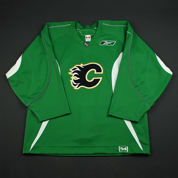 the best attitude 8b591 5e151 closeout calgary flames green jersey auction 0f29f 31865