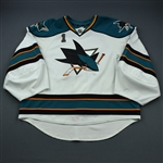 Greiss, Thomas * <br>White<br>San Jose Sharks 2011-12<br>#1 Size: 58G