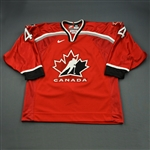 Woywitka, Jeff * <br>Red, National Under-18 Four Nations Tournament<br>Canada 2000<br>#4 Size: 56