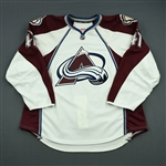 Beaupre, Gabriel<br>White Set 1 - Game-Issued (GI)<br>Colorado Avalanche 2013-14<br>#47 Size: 58