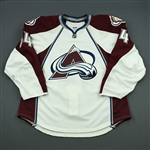 Blandisi, Joseph<br>White Set 1 - Game-Issued (GI)<br>Colorado Avalanche 2013-14<br>#64 Size: 56