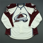 Clarke, Michael<br>White Set 1 - Game-Issued (GI)<br>Colorado Avalanche 2013-14<br>#63 Size: 56