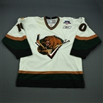 Johnson, Keith<br>White Set 1<br>Utah Grizzlies 2007-08<br>#10 Size: 54