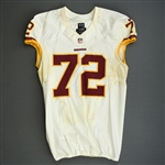 Bowen, Stephen<br>White - worn October 27, 2013 at Denver<br>Washington Redskins 2013<br>#72 Size:48 LINE
