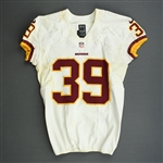 Amerson, David<br>White - worn October 27, 2013 at Denver<br>Washington Redskins 2013<br>#39 Size:42 SKILL